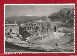 Italie - TAORMINA - Teatro Greco-Romano - Vera-foto. - Altre Città