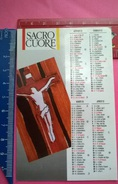 CALENDARIETTO SACRO CUORE 1993 - Calendari