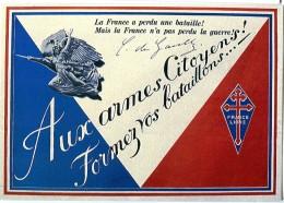 Thème Général De Gaulle - De Gaulle Sur Les Murs De France - N° 3 - R 2422 - Hombres Políticos Y Militares