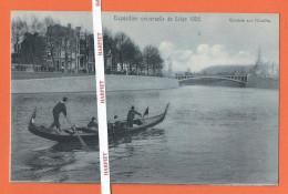 EXPOSITION UNIVERSELLE DE LIEGE 1905  -  Gondole Sur L'Ourthe - Liege