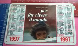 CALENDARIETTO 1997 PONTIFICIA OPERA PROPAGAZIONE FEDE - Calendari