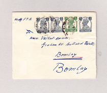 Indien Brief 1946 Sathamba Darbar Nach Bombay Mit Indische Frankatur Rückseitig Siegeleindruck Blau - Inde