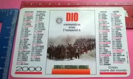 CALENDARIETTO 1999 PONTIFICIA OPERA PROPAGAZIONE FEDE - Calendari