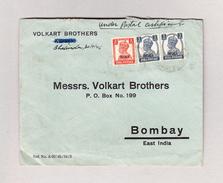 Indien 30.1.1946 Bhalinda Brief Nach Bombay Mit Indische Frankatur Überdruck Patiala - Patiala