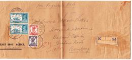 Indien 2.10.1943 Sholapur City R-Brief Nach Bombay (Langbrief Gefaltet) - Inde