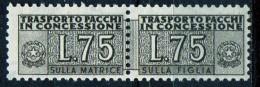 PIA - Specializzazione  :1955 :  PACCHI CONCESSIONE : £ 75 - (SAS 3/I - CAR 6) - Pacchi In Concessione