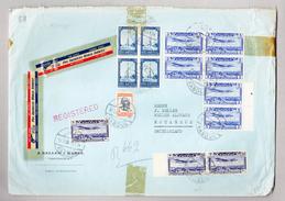 Afghanistan Firmen Luftpost R-Brief 11.5.1960 Kabul Nach Rotkreuz Mit 9 Flugpostmarken - Afghanistan