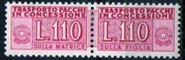 PIA - Specializzazione  :1955 :  PACCHI CONCESSIONE : £ 110 - (SAS 4/I - CAR 7) - Pacchi In Concessione