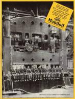 Publicité Parue Dans L'illustration - 26 Nov 27 - Mobiloil - Une Presse De 1200 Tonnes Aux Usines Peugeot - Advertising