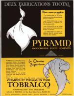 Publicité Parue Dans L'illustration - 26 Nov 27 - Pyramid Mouchoir Pour Hommes - Chemises Et Pyjamas En TissuTobralco - - Publicités