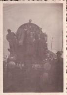 FOTO LOCOMOTORE LOCOMOTIVA TRENO A VAPORE EPOCA FASCISTA CON FASCIO LITTORIO - 1939-45