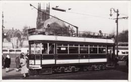 Tram Photo Blackburn Corporation Tramways Milnes Open Top Car 59 Tramcar - Trains