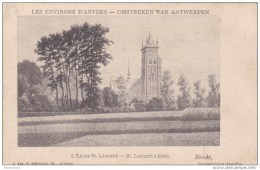 1911 Brecht L´Eglise St. Leonard St. Leonard´s Kerk Sint-Lenaarts Omstreken Antwerpen Tax Postzegel - Brecht