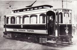 Tram Photo Halifax Corporation Tramways Single Deck Tramcar Car 103 - Trains