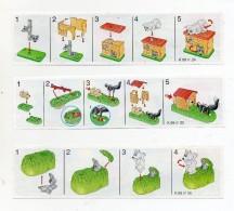 Componibili KINDER -1999 - Serie Completa - Cartine  Nr. 24 - 25 - 26  (FDC474) - Istruzioni