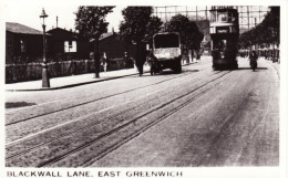 Tram Photo London County Council Tramways Tramcar 217 Blackwall Lane E Greenwich - Trains