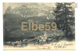 Cortina D'Ampezzo (BL), Panorama Col Gruppo Delle Tofane, Scritta 1903 - Italia
