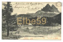 Misurina (BL), Lago E Le Tre Cime, Scritta 1903 - Italia