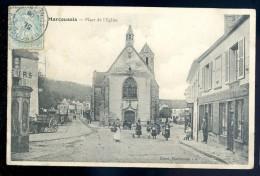 Cpa Du 91  Marcoussis  Place De L' église   LIOB108 - France