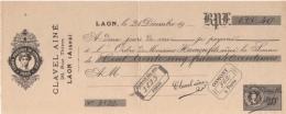 Timbre Fiscal, Fiscaux, Reçu école De Commerce Pigier , Timbres 30 C - Specimen 1942 - LAON 02 - Fiscaux