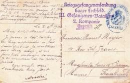 CP D´un Prisonnier De Guerre De LECHFELD Du 2.12.1914 - Marcofilia (sobres)