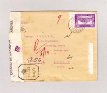 Afghanistan Kaboul 39.9.1943 Zensurbrief Nach Bombay (12 Marken) - Afghanistan