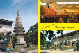 1 AK Malaysia * Ansichten Von Penang - Pagode, Reclining Buddha, Temple Wat Chayamangkalaram * - Malaysia