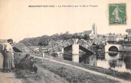 CPA 95 BEAUMONT SUR OISE LE PONT DETRUIT PAR LE GENIE FRANCAIS - Beaumont Sur Oise