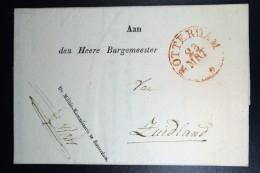 Nederland: Brief Van Rotterdam Naar Zuidland 1838 Betr Lotelingen Militie Kommissaris Te Rdam K-29 Brielle - Niederlande
