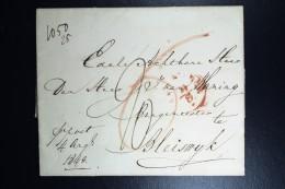 Nederland: Brief Van Amsterdam Rotterdam Bleiswijk Met 6 Stuivers Extra Bode Loon Naast 20 C  1843 - ...-1852 Voorlopers