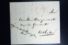 Nederland: Brief Van Off. Van Justitie APPINGENDAM Naar Burg. Uithuizen  Via Groningen  1846 - Nederland
