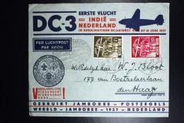 Netherlands Indies, Douglas DC 3 Eerste Vlucht Naar NI. 1937  NVPH  226 - 227 - Indes Néerlandaises