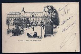 CPA PRECURSEUR- FRANCE- PARIS (75)- LE PONT DES SAINT-PERES EN 1900- ANIMATION- DILIGENCE 3 CHEVAUX - Brücken