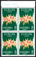 EUROPA - 1972 - Andorre Espagnol - N° 64a - Bloc De 4 Haut De Feuille - LUXE. (Authentique) - Europa-CEPT