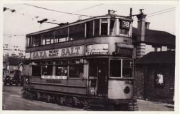 Tram Photo London Transport E/3 Tramcar Car 598 Tramway Route 38 Saxa Salt - Trains