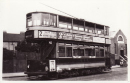 Tram Photo London County Council Tramways Tramcar Car 20 - Trains