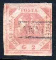 1858 1860 Regno Di Napoli E Delle Sue Sicilie N°5  2 Gr. Grana Annullato Dittatura E Luogotenenza - Naples