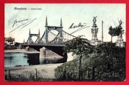 Mannheim. Neckarbrücke. 1906 - Mannheim