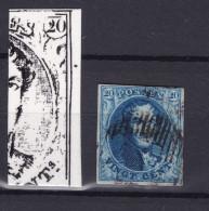 N° 7 Margé  Planche III Position 167 Point De Couleur Marge Gauche - 1851-1857 Médaillons (6/8)