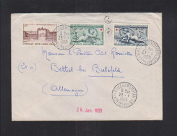 France Lettre 1953 Versailles Montreuil - 1921-1960: Periodo Moderno