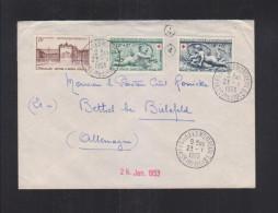 France Lettre 1953 Versailles Montreuil - Poststempel (Briefe)