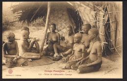 CPA Congo Francais Scene De Tchikoumbis Louango - Congo Français - Autres
