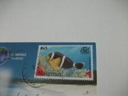 STORIA POSTALE FRANCOBOLLO COMMEMORATIVO PESCE FISH MAURITIUS LES SALINES TAMARIN LE SALINE - Mauritius