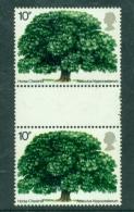 Great Britain 1974 British Trees SG 949 Gutter Pair Mint MNH - Nuevos