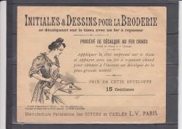 Enveloppe  ILLUSTREE Pour  INITIALES Et DESSINS Pour La BRODERIE Procede De Decalque Au Fer Chaud - Vieux Papiers