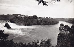 Ak Rheinfall Bei Neuhausen, Schlösschen Wörth Und Schloss Laufen, 1964 - Suisse