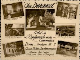 24 - DOMME - Carte Pub Hotel Chez Durand - France