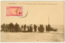 AFRIQUE - MAURITANIE - PORT ETIENNE - BAIE DU LEVRIER - COUP DE SENNE PAR LES PECHEURS BRETONS - Mauritanie