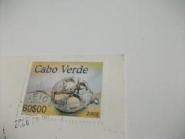 STORIA POSTALE FRANCOBOLLO COMMEMORATIVO CAPO VERDE CABO VERDE SPIAGGIA ST. MARIA - Capo Verde