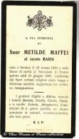 ITALIE - SUOR METILDE MAFFEI - STENICO - MORTE - AVIS DE DECES - Décès